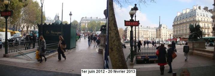 Le kiosque Saint-Michel est resté moins de 9 mois sur la place Saint-Michel - Photo : VD / PT.