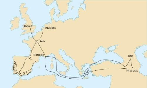 Les voyages de Joseph Pitton de Tournefort (1656-1708) (c) Valérie Chansigaud sous licence creative commons