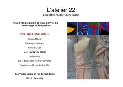 """12 Mai 2013 Exposition """"Instant Magique"""" Graffs et œuvres textiles à la Foire aux plants de Genouilly"""
