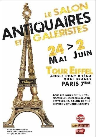 24 mai - 2 juin 2013 : Salon Antiquaires et Galeristes - Tour Eiffel