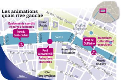 Aménagement des voies sur berges dans le VIIe arrondissement - Crédit : Mairie de Paris.