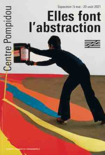 Poster of the show 'Women in Abstraction' Centre Pompidou Paris, 2021 taken from photo of Lynda Benglis, published in Life(1970)©Henry Groskinsky and Liga Inc. courtesy of Centre Pompidou Paris