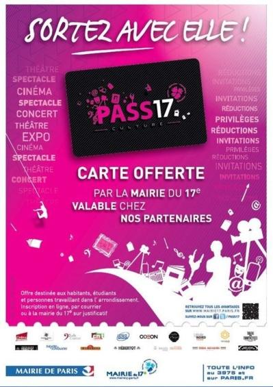 Campagne Decaux réalisée pour le Pass 17 Culture en hiver 2012 (c) Mairie du XVIIe arrondissement.