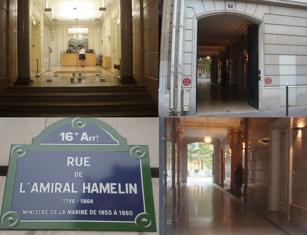 16e arrondissement : faits divers à la MAF rue de l'Amiral Hamelin.