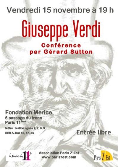 Bicentenaire de la naissance de Verdi à la Fondation Merice