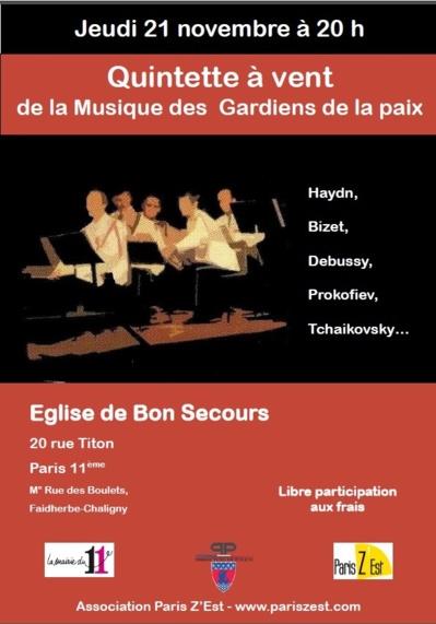 Musique des Gardiens de la Paix en l'Eglise de Bon Secours