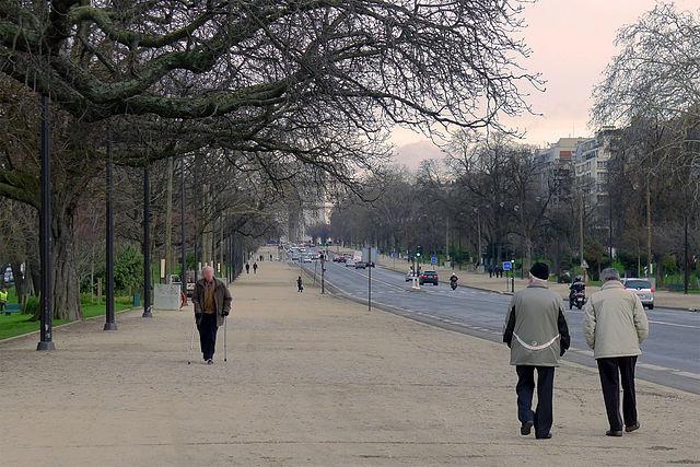 Avenue Foch, vue en direction de l'Etoile, Paris XVI - Crédit photo sous licence Creative Commons : Mbzt.