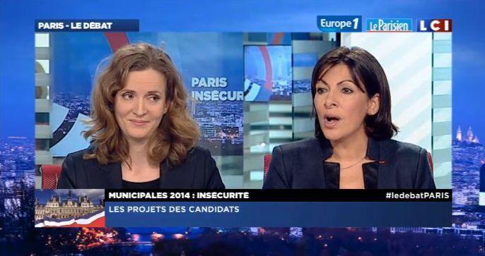 Débat LCI - Europe 1 - Le Parisien Aujourd'hui en France le mercredi 29 janvier 2014 de 18h30 à 20h avec 5 candidats à la Mairie de Paris - Capture d'écran LCI.