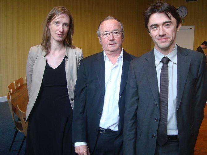 Maud Gatel (Modem) Vice-présidente du groupe UDI Modem, Eric Azière (UDI) président du groupe UDI Modem et Yann Wehrling, porte-parole du groupe - Photo : VD.