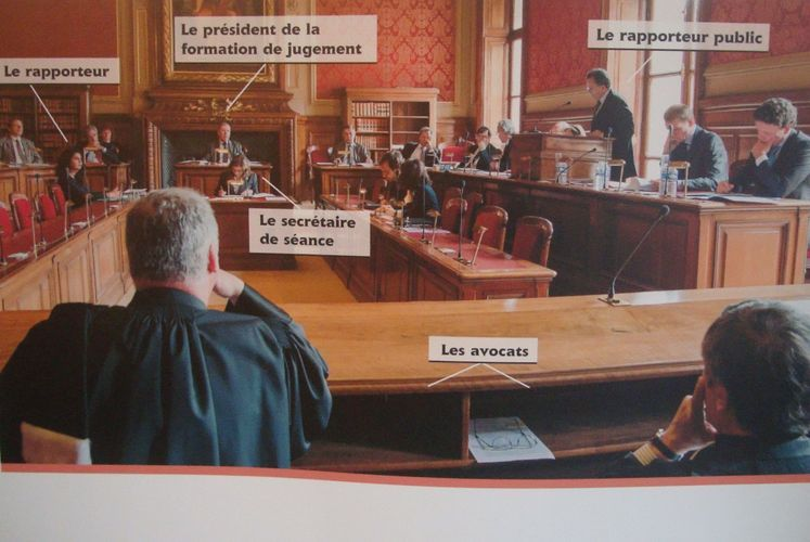 Conseil d'Etat salle de la section du contentieux - Crédit : Conseil d'Etat.