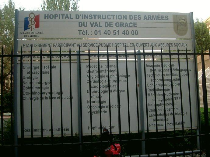 L'Hôpital du Val de Grâce est ouvert aux assurés sociaux © VD / PT.