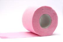 Rouleau de papier toilette rose © Vely - Fotolia.com