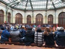 Assemblée générale des grévistes à la Bourse du Travail le 5 octobre 2015 © PT.