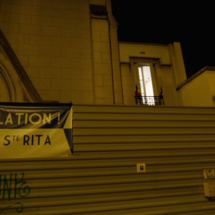 L'église Sainte Rita occupée © VD - PT.