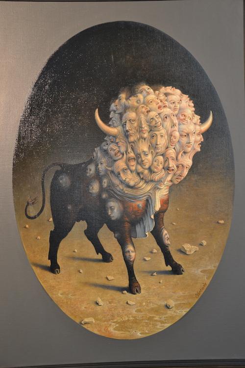 La Foule, peinture de Claude Verlinde © VD - PT.