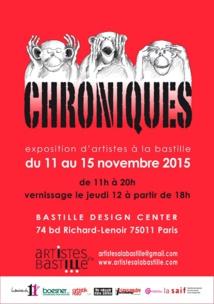 """Exposition """"Chroniques"""" d'Artistes à la Bastille"""