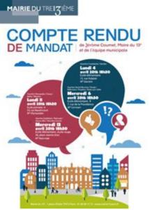 Compte-rendu de mandat du maire du 13e arrondissement de Paris © mairie13.paris.fr
