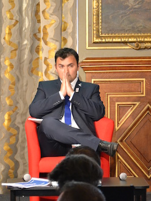 Jean-François Martins, premier vice-président du comité des sites de l'UEFA Euro 2016 en France et adjoint au sport à la mairie de Paris © VD Paris Tribune