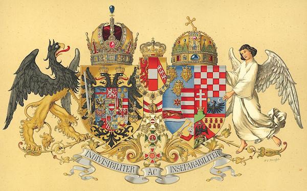 Blason impérial Austro-Hongrois © Hugo Gerhard Ströhl, Domaine public, Wikimedia Commons