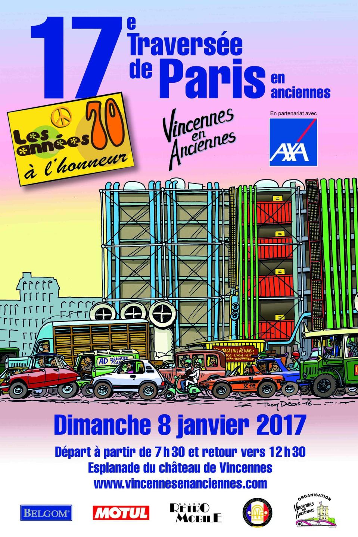 17e traversée de Paris en Anciennes