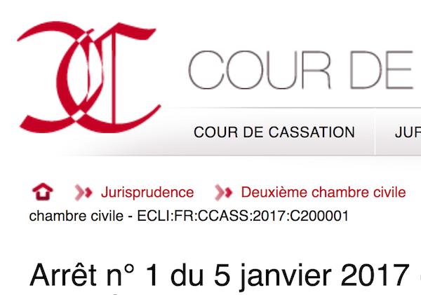 Site internet de la Cour de Cassation - capture d'écran