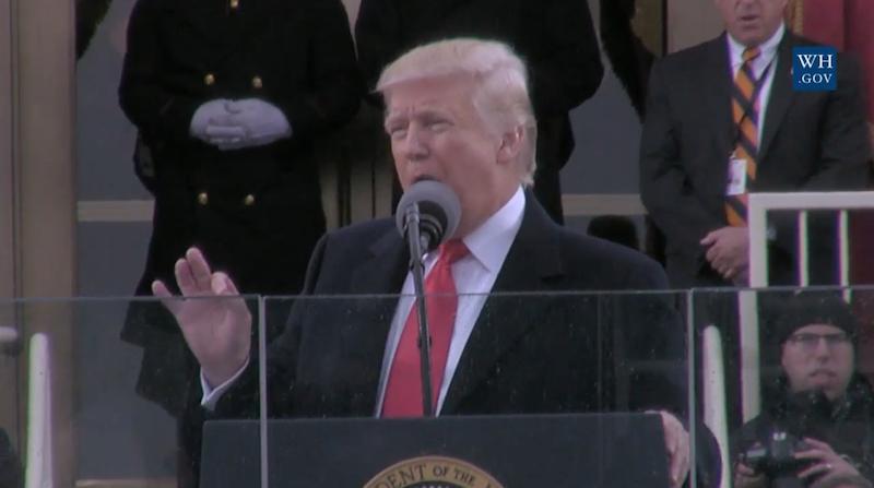 Discours de Donald J. Trump 45e Président des Etats-Unis d'Amérique le 20 janvier 2017 © capture d'écran du site de La Maison Blanche - WhiteHouse.gov