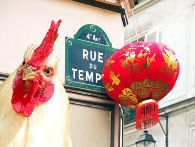 L'année du coq décore le 4e arrondissement de Paris © neko92vl