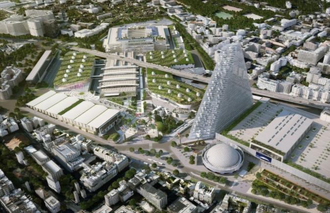 Projet de Tour Triangle de forme pyramidale Porte de Versailles © UNIBAIL - RODAMCO