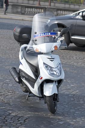 Scooter de police © Keryann.