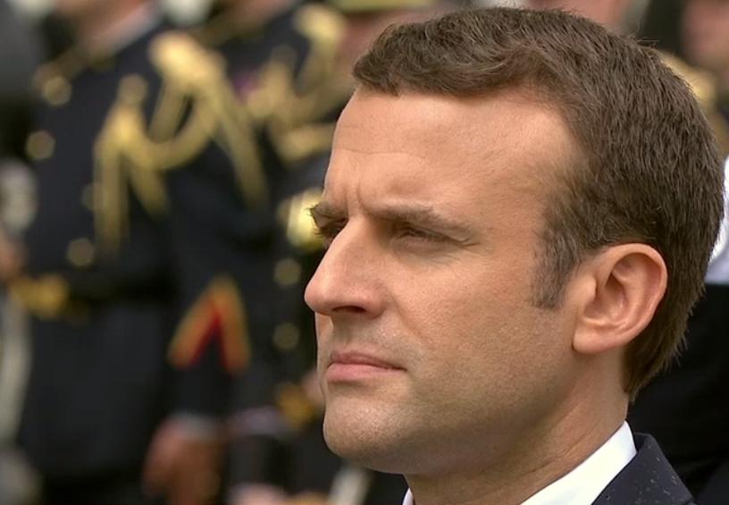 Emmanuel Macron le jour de la passation de pouvoir à l'Elysée © DR.