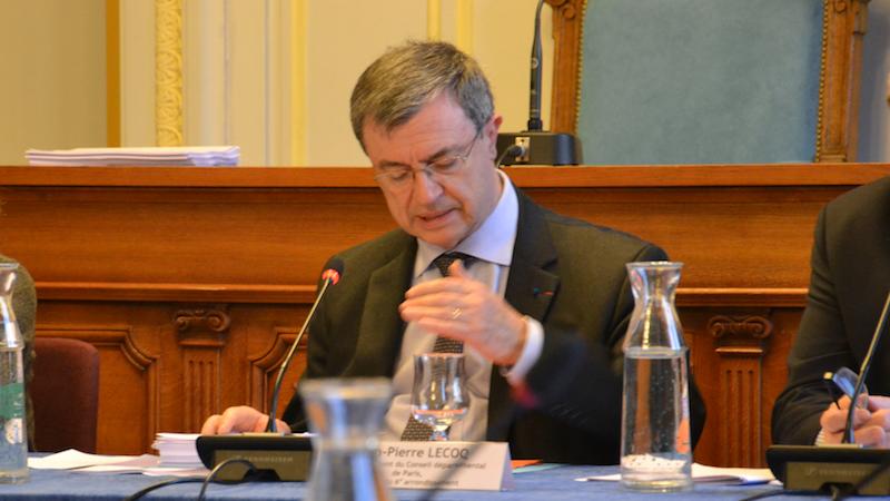 Jean-Pierre Lecoq veut régler le cas Nathalie Kosciusko-Morizet aux élections législatives 2017 à Paris © VD / PT Mars 2017.