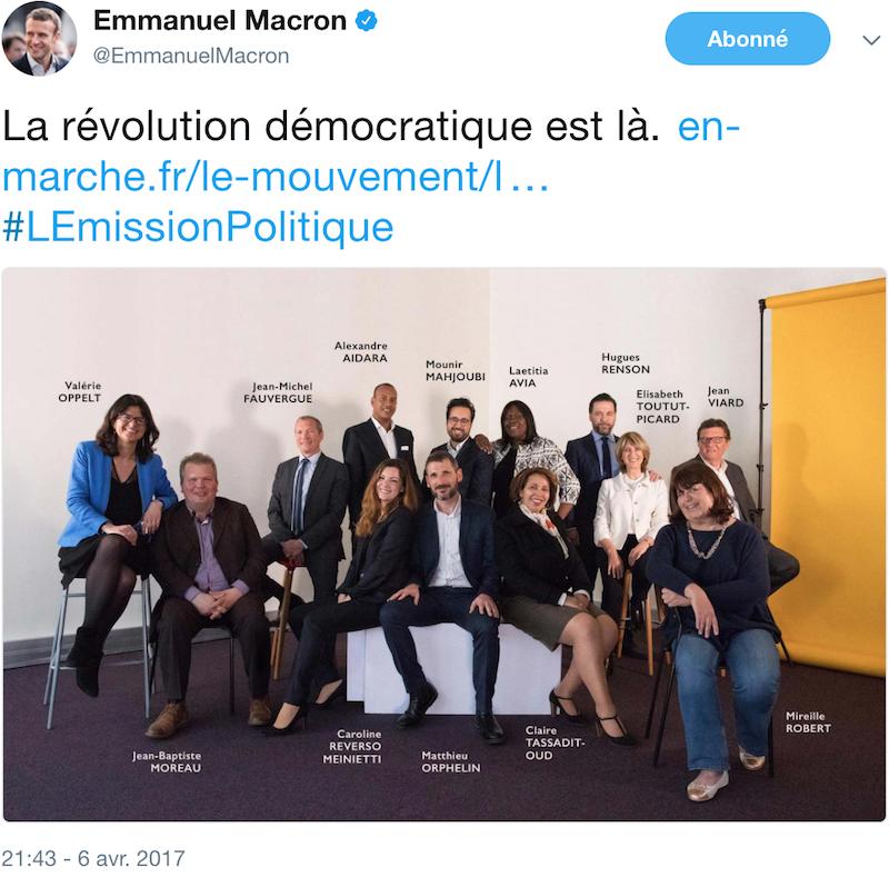 Laetitia Avia est l'un des 14 premiers candidats soutenus publiquement par Emmanuel Macron dès le 6 avril 2017.