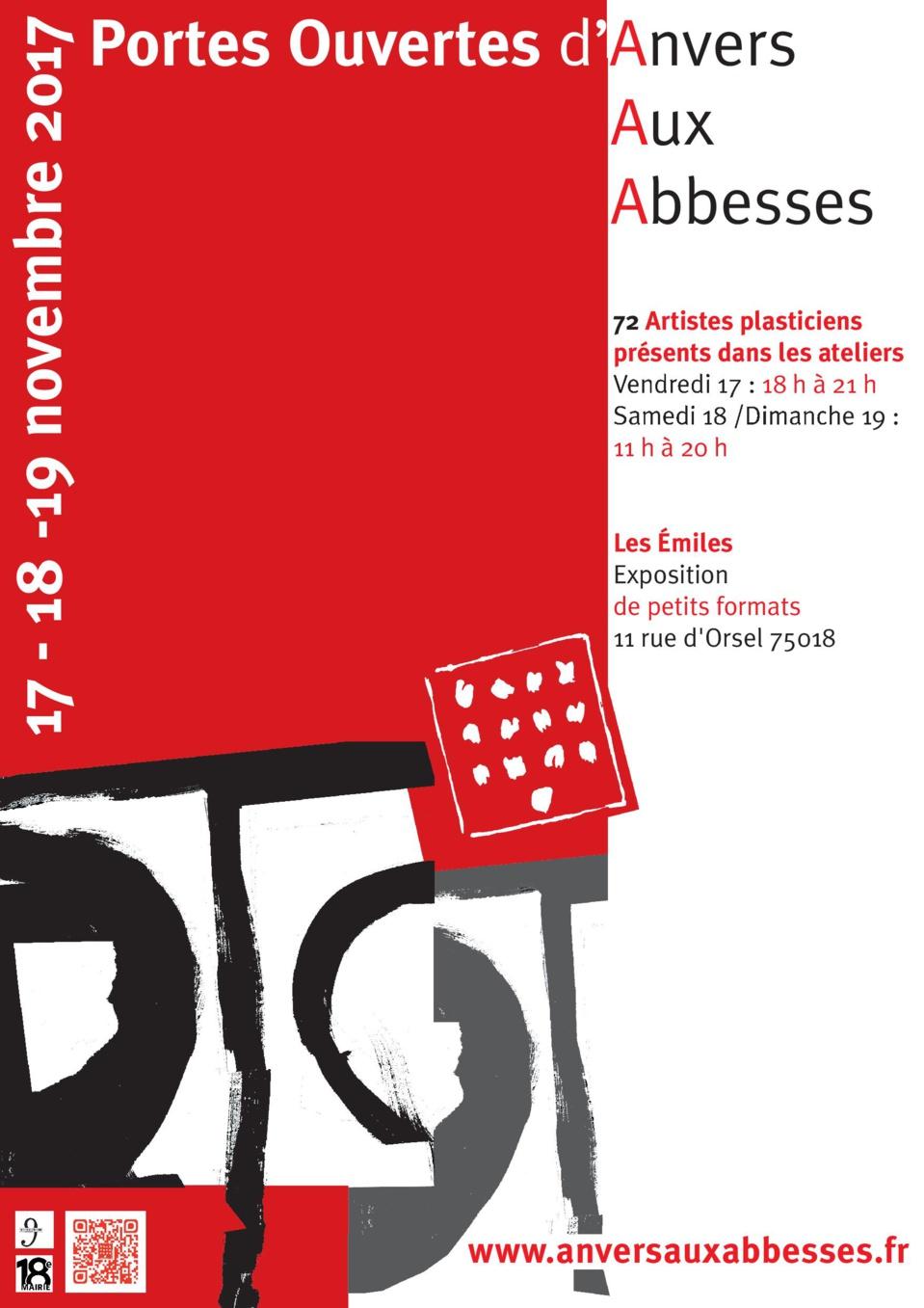 Du 17 au 19 novembre, 22e Portes ouvertes d'Anvers aux Abbesses