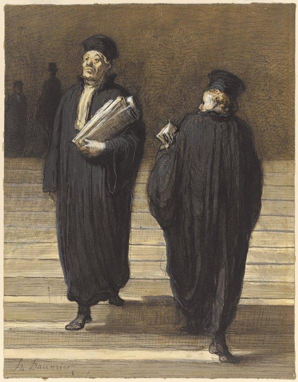 Les deux confrères Avocats de Honoré Daumier - Brooklyn Museum.