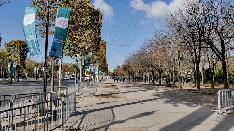 Le bas des Champs-Elysées vide depuis le 6 novembre 2017 © VD archives Paris Tribune