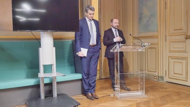 De g. à dr. : Thomas Lauret et Julien Bargeton, Groupe Démocrates et Progressistes © VD / PT.