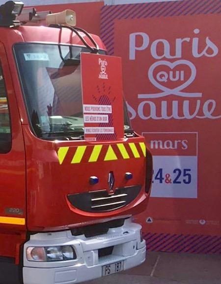 Opération Paris qui Sauve place de l'Hôtel de Ville de Paris les 24 et 25 mars 2018 © DR