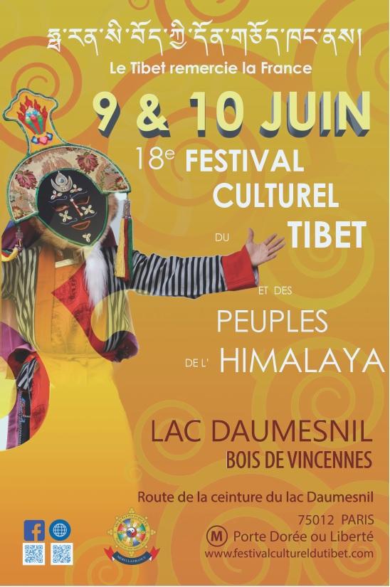 18e festival culturel du Tibet à Paris.