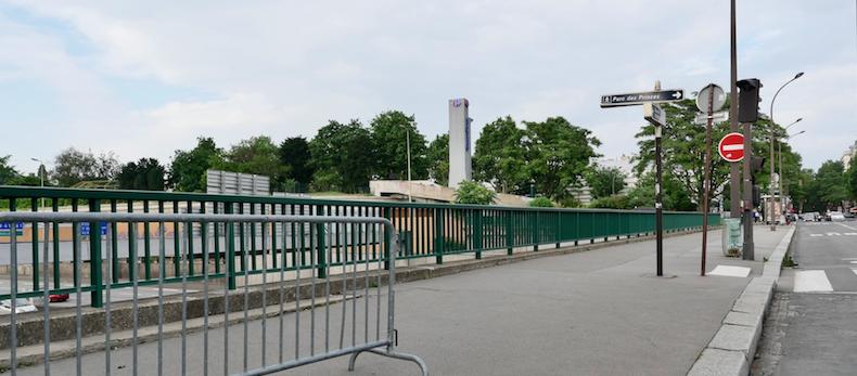 Tentative de suicide depuis le pont de l'avenue de la porte Molitor à Paris © DR