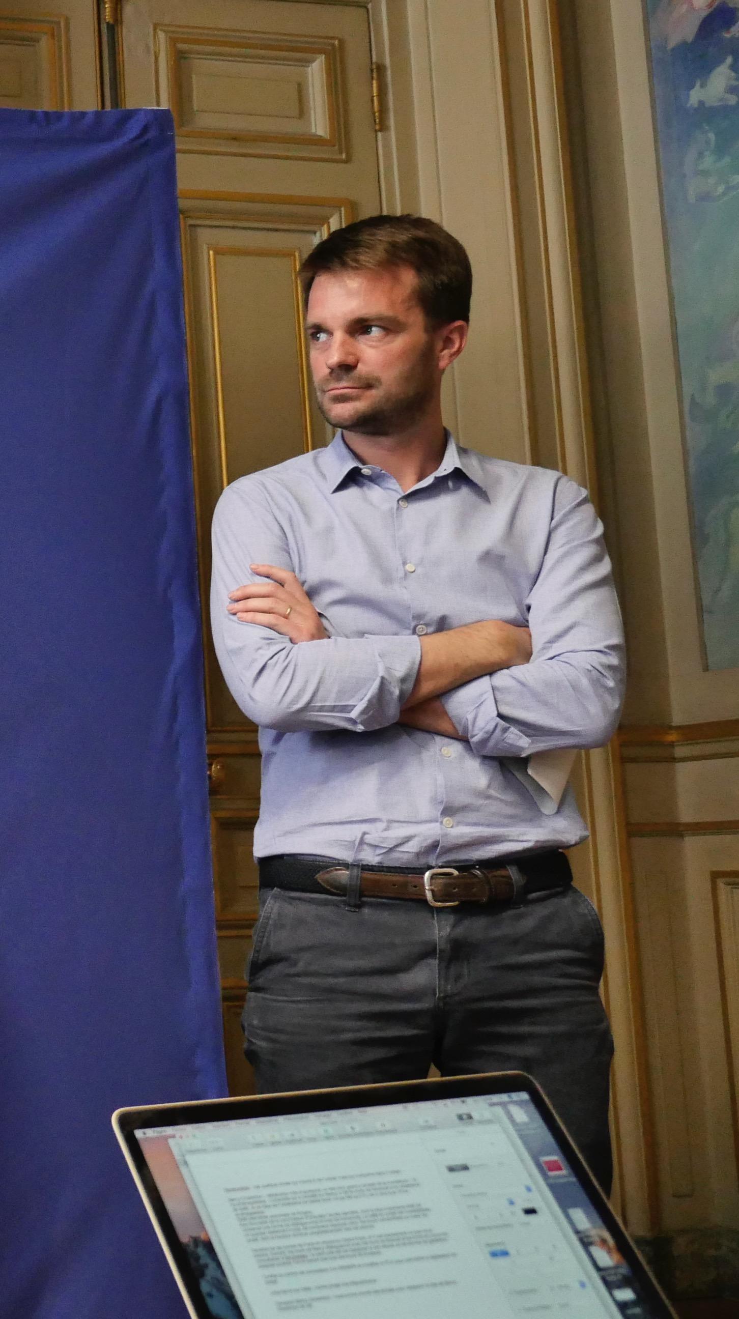 Bruno Julliard lors de la conférence de presse précédant le conseil de Paris de juillet 2018 © VD/PT