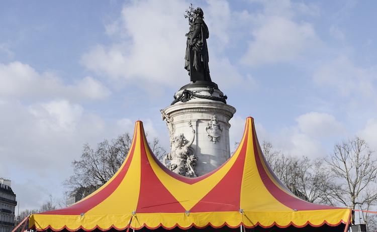 Le monde forain et du cirque place de la République le 17 janvier 2018 © VD/PT.