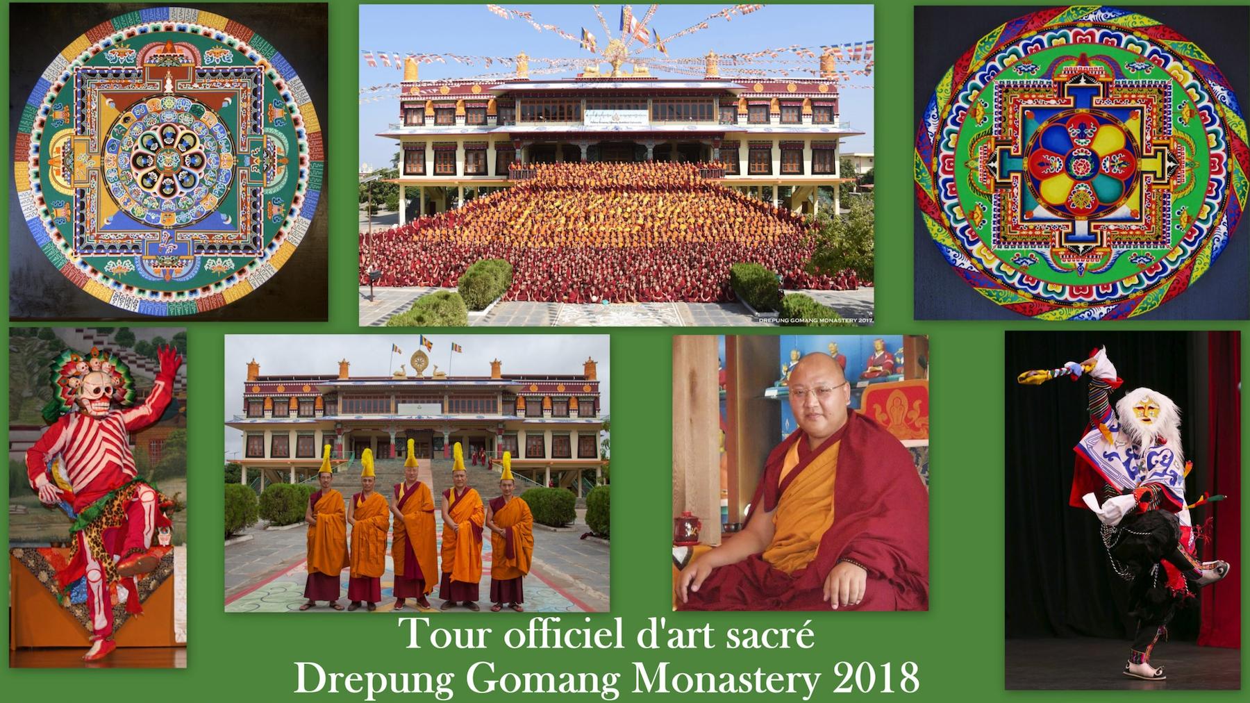 Tour officiel d'art sacré du Drepung Gomang Monastery 2018
