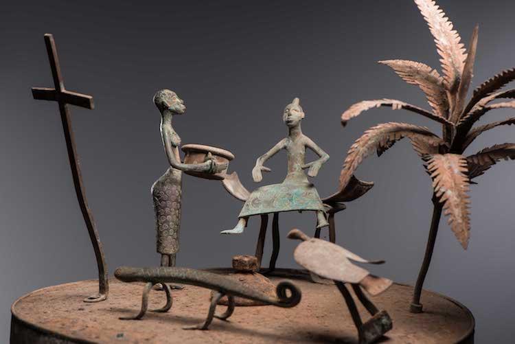 Détail d'un asen des forgerons royaux Hountondji - Musée Barbier-Mueller © Luis Lourenço