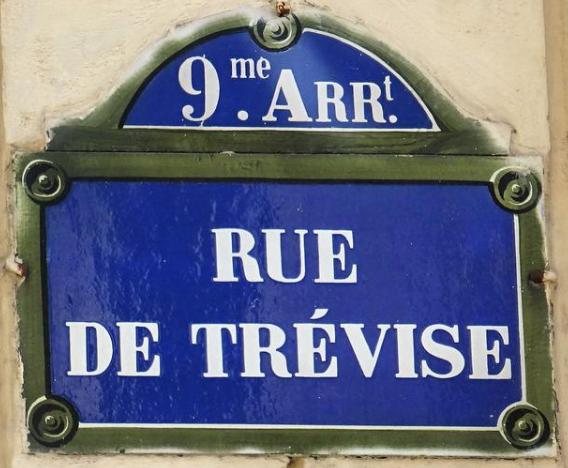 Rue de Trévise 75009 Paris.