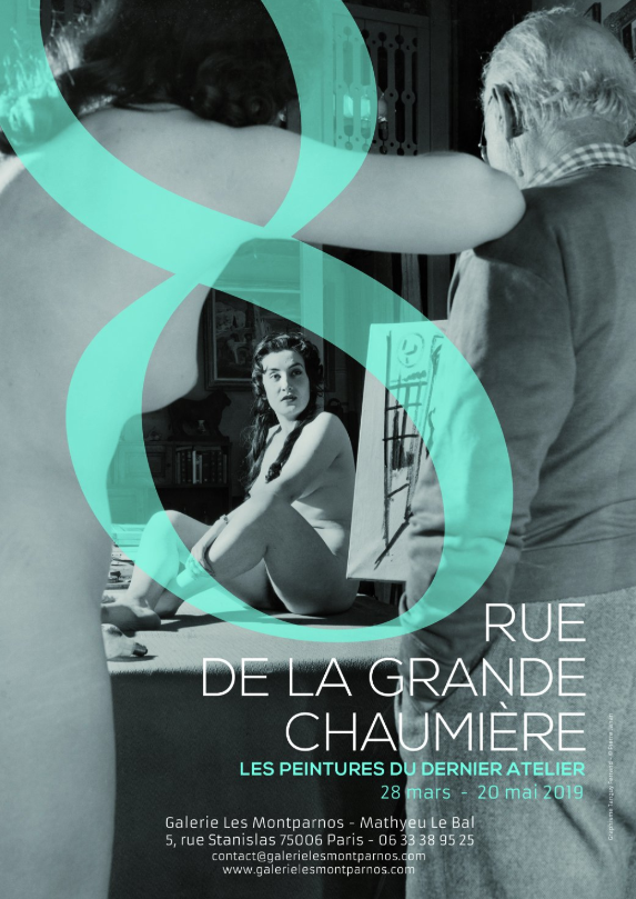 Exposition 8 rue la grande chaumière dans le 6e arrondissement de Paris © galerie Les Montparnos
