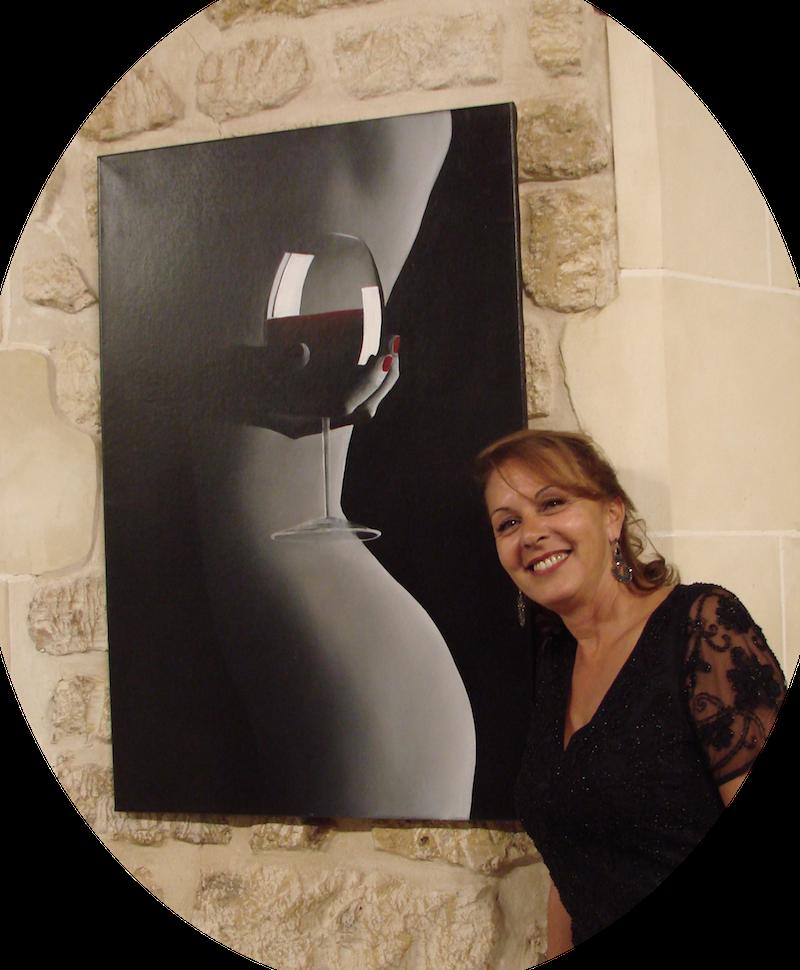 Safia Bollini : une artiste qui célèbre la Femme et le Vin