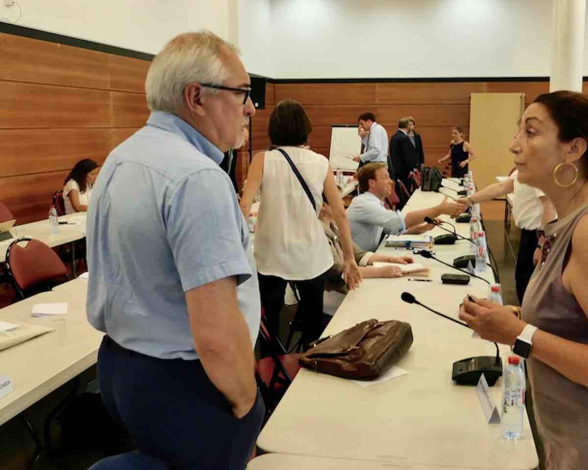 Laurent Vastel et sa deuxième maire-adjointe Muriel Galante-Guilleminot (LR) au conseil du territoire Vallée Sud Grand Paris, deux des quatre membres de VSGP pour la commune de Fontenay-aux-Roses © VD/PT