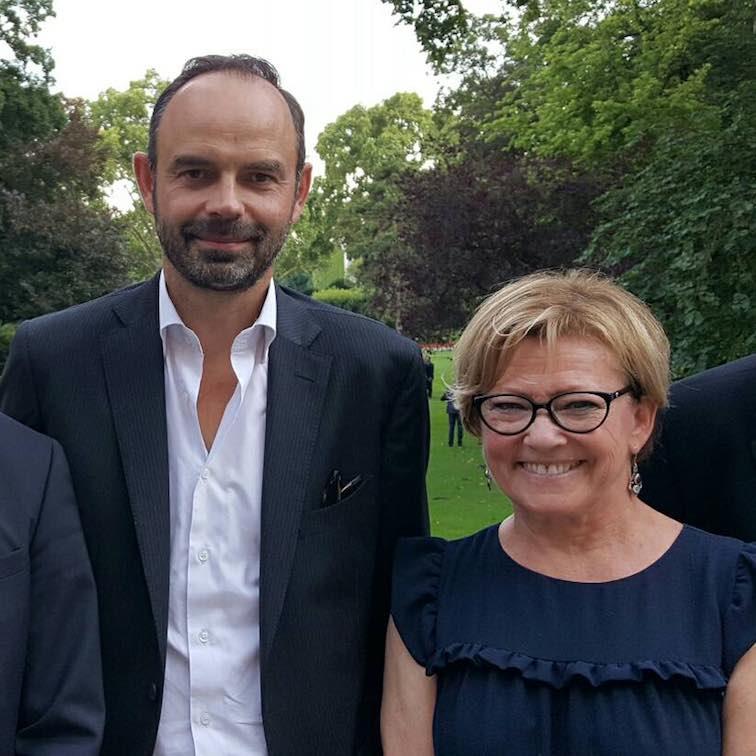 Patricia Gallerneau avec Edouard Philippe - Juillet 2017 © page Facebook souvenirs de Patricia Gallerneau