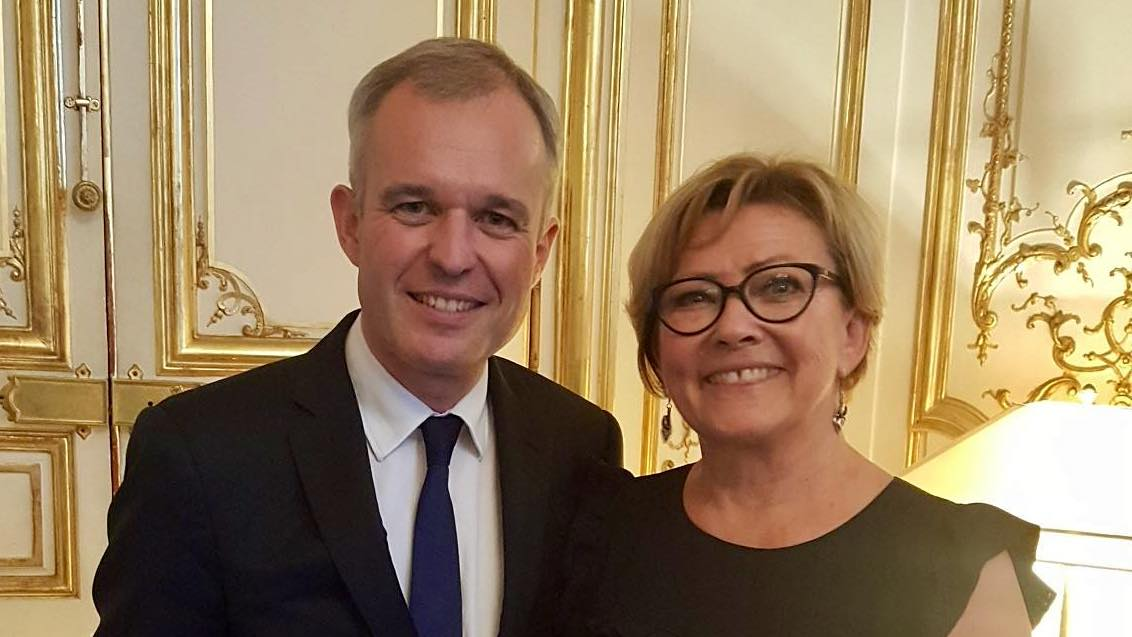 Patricia Gallerneau et François de Rugy, à l'époque Président de l'Assemblée nationale - Juillet 2017 © page Facebook souvenirs de Patricia Gallerneau.
