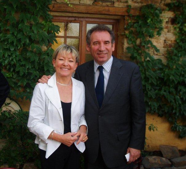 Patricia Gallerneau et François Bayrou - Juin 2016 © page Facebook souvenirs de Patricia Gallerneau